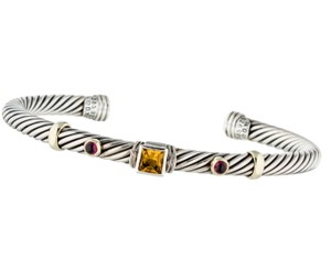 David Yurman Sterling silver 14K yellow gold David Yurman Renaissance Cable cuff