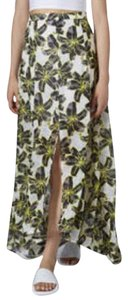 Topshop Maxi Skirt Yellow/Black/White