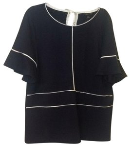 Banana Republic Top Navy with white piping