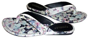 Charles by Charles David Floral Embossed Faux Leather Multi Color Sandals