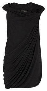 AllSaints Draped Pleated Asymmetrical Fitted Tunic