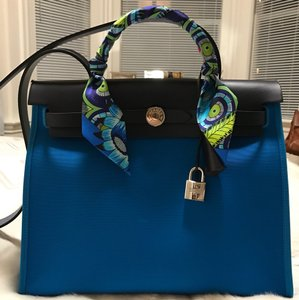 Herms Satchel in Blue
