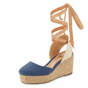 SCHUTZ Blue Wedges