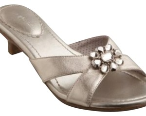 Lindsay Phillips White Gold Sandals