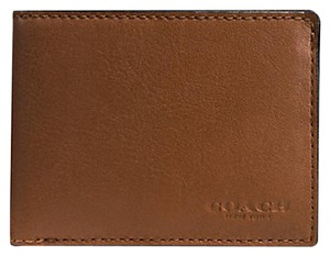 Coach Coach F75016 Slim Billfold ID Mens Wallet in Sport Calf Saddle Leather