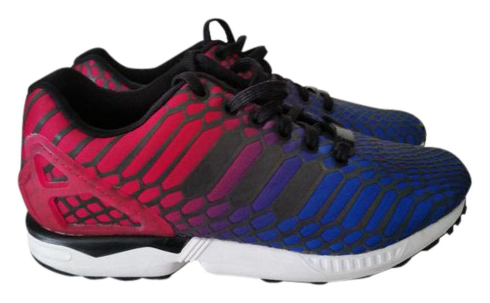 adidas Blue Red Multi Zx Flux Xeno Sneakers Size US 8 Regular (M df8c2ed0bc
