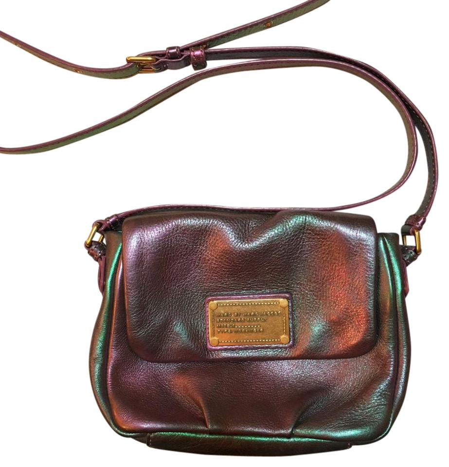 25d9939d19f3 Marc by Marc Jacobs Classic Q Iridescent Purple-green Leather Cross Body Bag