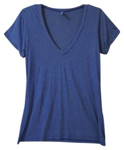 Frenchi Soft V-neck T Shirt blue