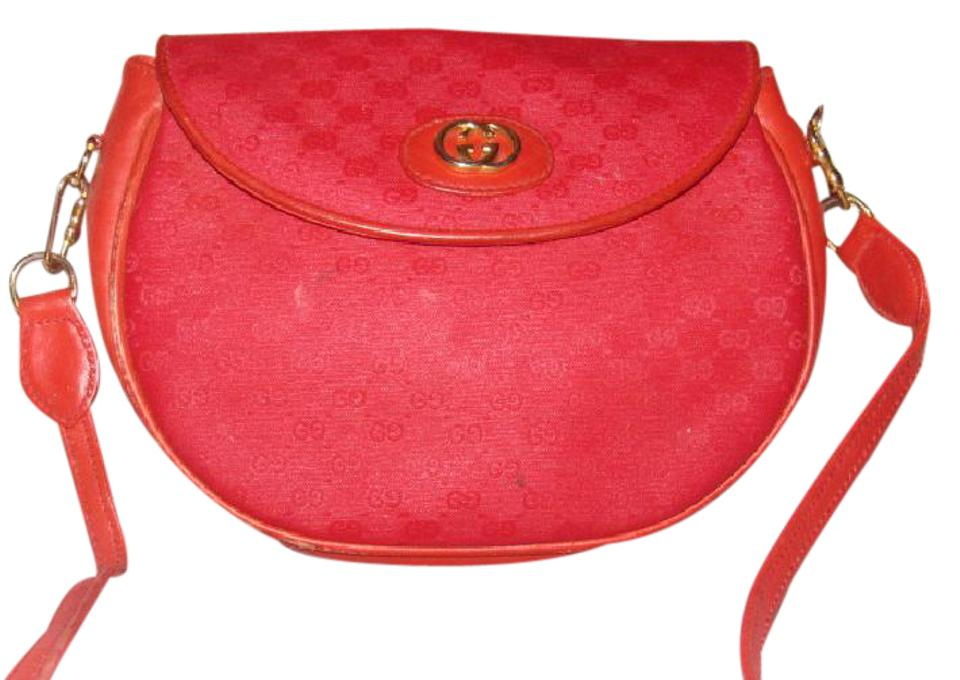3278a30411 Gucci Micro Guccissima Two-way Purse Red Small G Print Cc & Leather  Leather/Coated Canvas Shoulder Bag