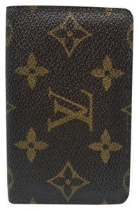 Louis Vuitton ID monogram vintage tall bifold case card holder