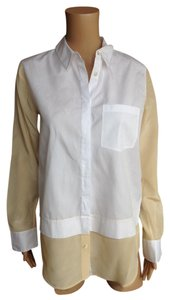 Vince Top Yellow White