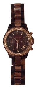 Michael Kors Oversized women's tortoise and gold watch