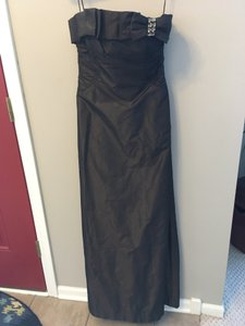 Kay Unger Chocolate Strapless Gown Dress