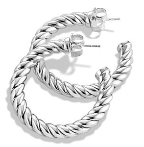 David Yurman David Yurman Classic Cable Earrings, 29MM NWOT