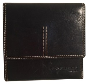 Kenneth Cole Trifold Leather Wallet Contrast Stitching