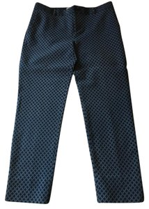 Banana Republic Jacquard Ankle Slits Skinny Pants blue