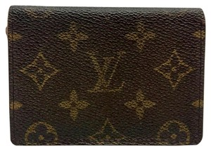 Louis Vuitton Louis Vuitton monogram canvas bifold pass case card holder