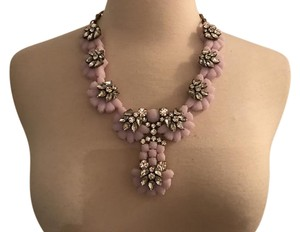 J.Crew J.CREW CRYSTAL COLOR FLOWER NECKLACE A1151 LILAC