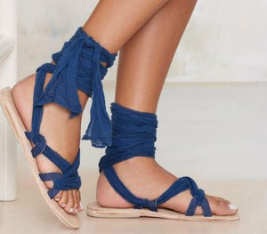 Brother Vellies Nasty Gal Blue Sandals