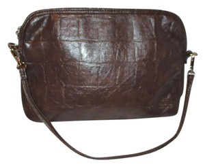 Louenhide Padded Croc Ipad Tablet brown Travel Bag