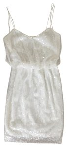 Aidan Mattox Sequin Bridal Bride Short Dress