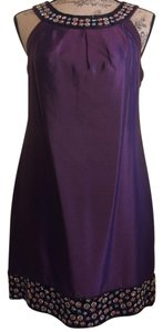 ECI New York #sleeveless #side Pockets Silk Wedding Guest Beaded Dress