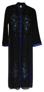 Black/royal blue Maxi Dress by Silver dragon