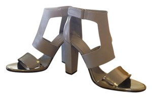 Vince Leather Gray- Metallic silver Sandals