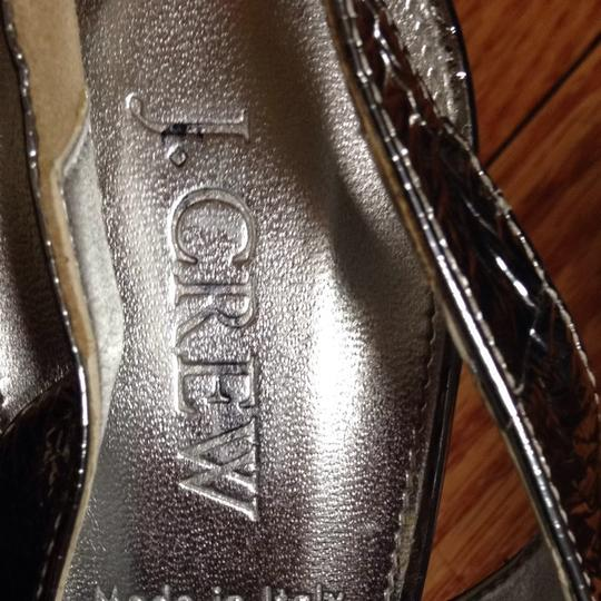 J.Crew Silver Metallic Pumps