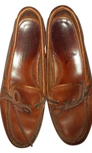 Coach Loafers Leather Camel Flats