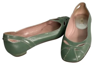 Prada Pale Green Flats