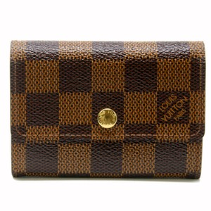 Louis Vuitton Louis Vuitton Damier Porte Monnaie Plat Luxury Coin Purse Wallet