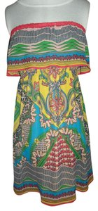 Flying Tomato short dress multi-color Large 100 % Polyester Strapless on Tradesy