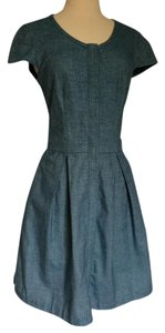 Rag & Bone short dress Blue Cap Sleeve Button-down Denim Fit And Flare on Tradesy
