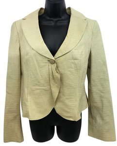 Armani Collezioni Beige Leather Jacket