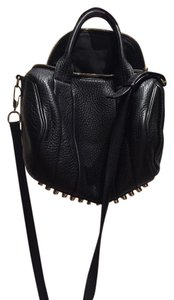 Alexander Wang Studded Leather Gold Studs Strap Shoulder Bag