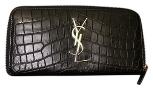 Saint Laurent SAINT LAURENT ZIP AROUND WALLET/CROCODILE EMBOSSED