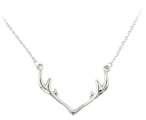Ocean Fashion Fashion antlers clavicle silver necklace