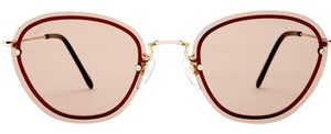 Tod's Tod's Women's Gold Brown Metal Sunglasses