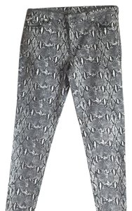 Michael Kors Skinny Pants White and black animal print