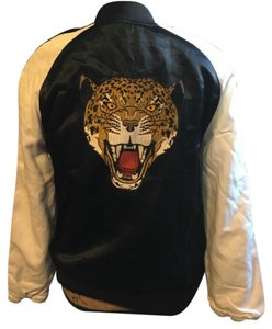 New Kendall & Kylie Bomber Tiger Jacket black, cream and multi-color Jacket