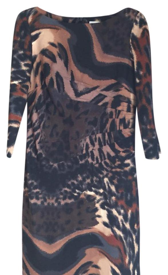 8c452a3c7b3 Jessica Simpson short dress black brown animal print on Tradesy Image 0 ...