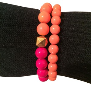 Other 2 orange tone stretch beads bracelet
