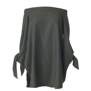 Tibi Top Dark Green