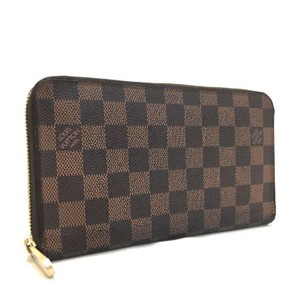 Louis Vuitton Louis Vuitton Signature Damier Large Zippy Around Organize Long Wallet