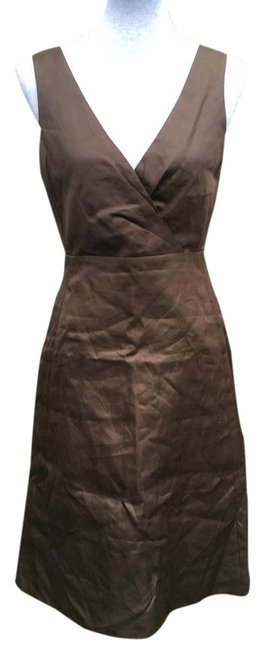 Item - Brown Cotton Cady Serena Mid-length Formal Dress Size 6 (S)