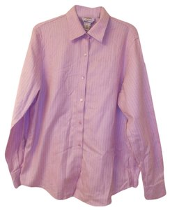 Talbots Career Weekend Cotton Button Down Shirt Pink