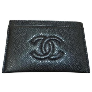 Chanel Timeless CC Black Caviar Card Holder