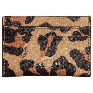 Coach Flat Card Case in Ocelot Haircalf