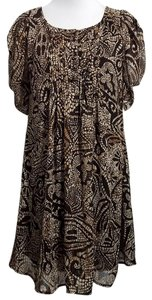 Marc Bouwer short dress Brown and Beige on Tradesy